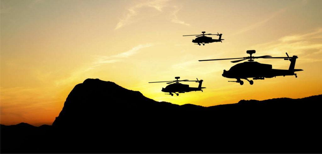 AH-64 Apache Sunset