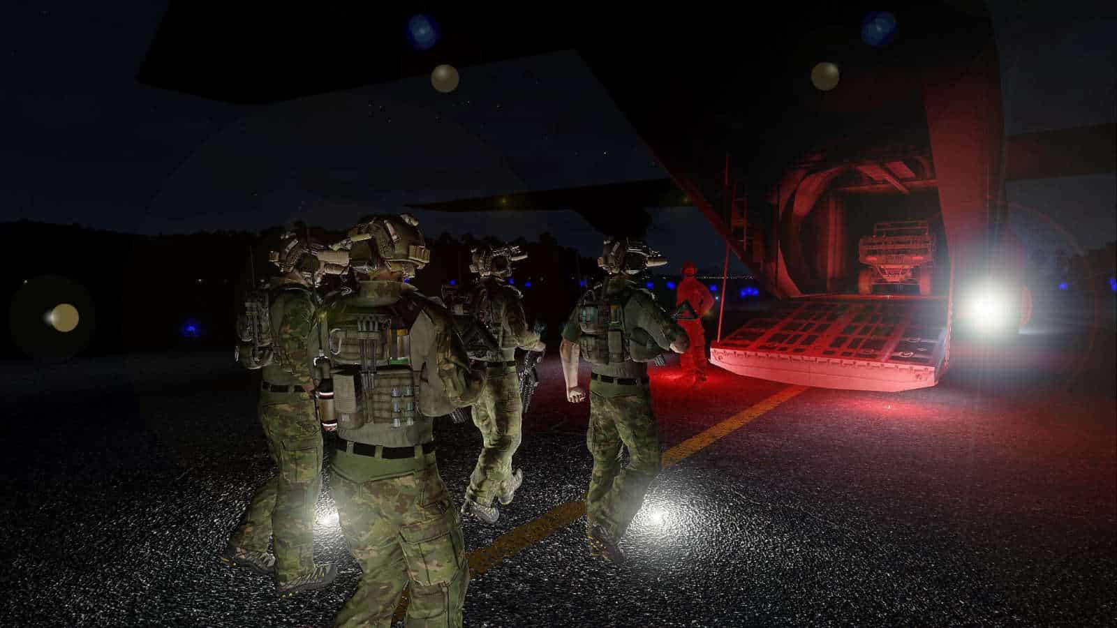 Arma 3 night raid milsim unit