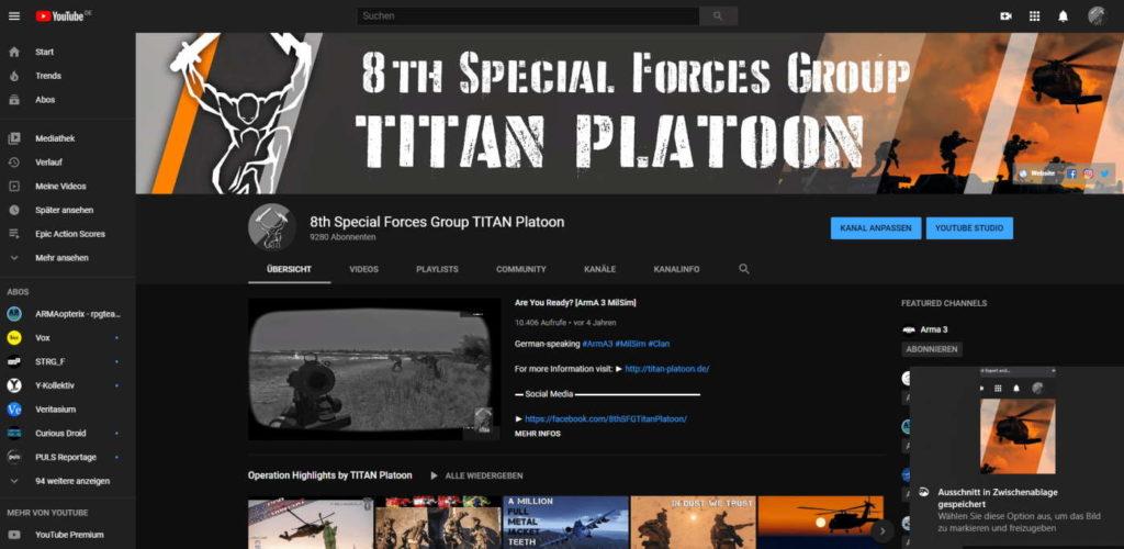 Arma 3 youtube deutscher clan 2021