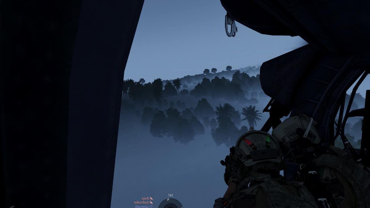 ArmA 3 Blackhawk Fog low flight