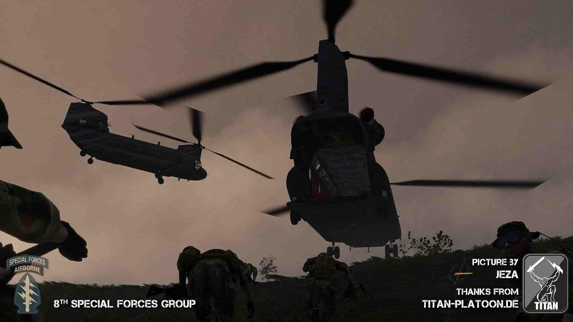 ArmA 3 clan Milsim Event Chinook