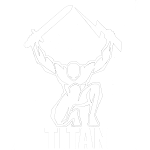 ArmA 3 Clan MilSim - Quadrat TITAN Logo Transparent Weiss