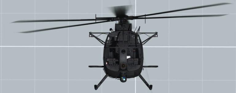 Little Bird MH-6 Front