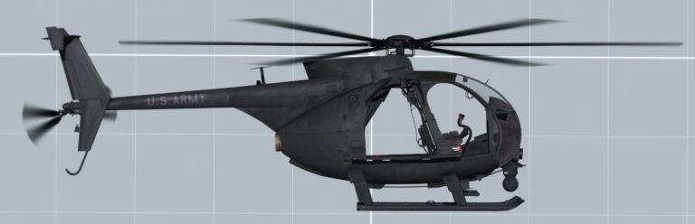 MH-6 Little Bird Side